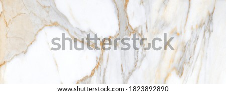 White Carrara Marble Texture Background With Curly Grey-Brown Coloured Veins, It Can Be Used For Interior-Exterior Home Decoration and Ceramic Decorative Tile Surface, Wallpaper, Architectural Slab.