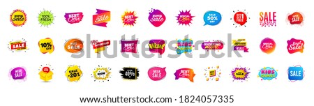 Discount offer sale banners. Best deal price stickers. Black friday special offer tags. Sale bubble coupon. Promotion discount banner templates design. Buy offer sticker. Super deal set. Vector #1824057335