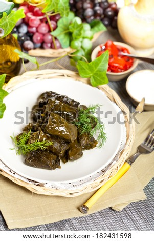 Stuffed Grape Leaves #182431598