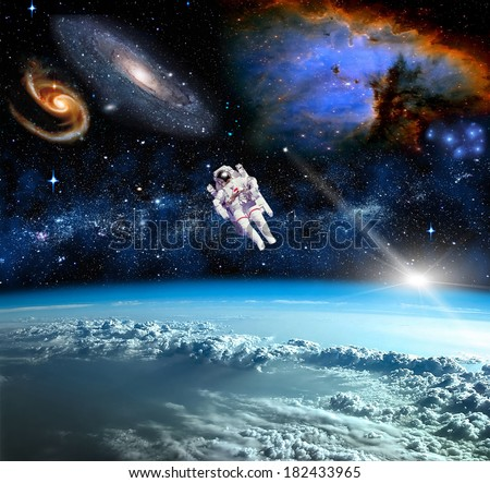 Space landscape, view from the Earth.  #182433965