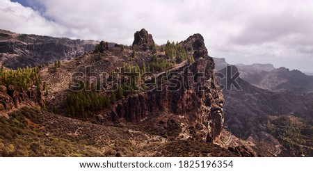 Gran Canaria, landscape of the central part of the island, Las Cumbres, ie The Summits Royalty-Free Stock Photo #1825196354