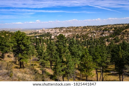 Wildcat Hills Nature Center Along the Oregon Trail Royalty-Free Stock Photo #1825441847