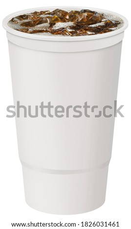 32oz plastic fountain cup with soda Royalty-Free Stock Photo #1826031461