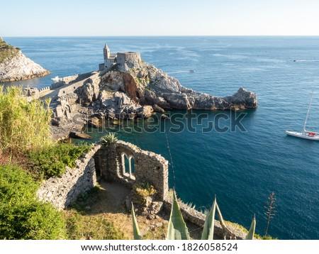 Porto Venere coast in Mediterranean sea, Liguria country, Italy Royalty-Free Stock Photo #1826058524