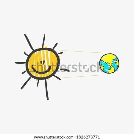 Sun And Globe clip art