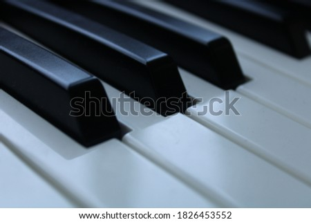 Black and white musical piano keyboard keys for music and arts #1826453552