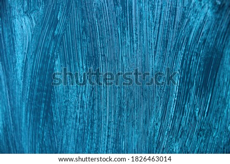 Blue textured paint background wallpaper layer for graphic and web design purposes.  #1826463014