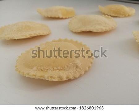 Italian homemade ravioli pasta stuffed.  #1826801963