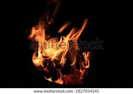 Abstract picture of flame with black background