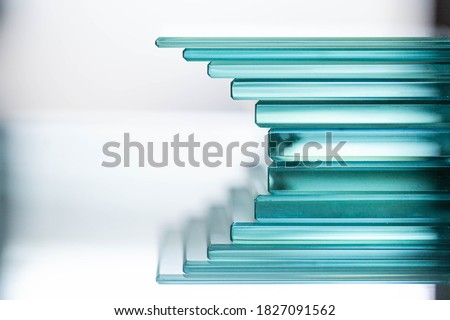 Glass Factory produces a variety of transparent glass thicknesses. Royalty-Free Stock Photo #1827091562