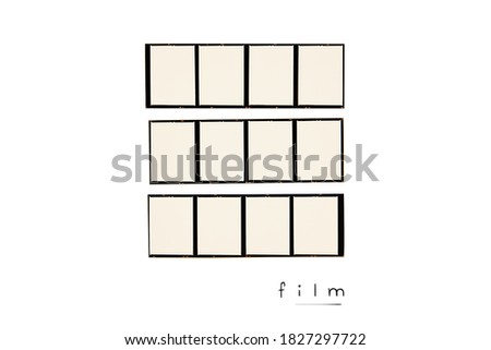 Medium format color film frame.With white space.