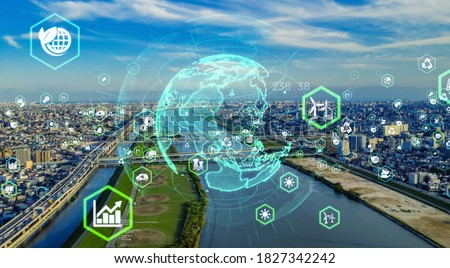 Environmental technology concept. Sustainable development goals. SDGs. Royalty-Free Stock Photo #1827342242