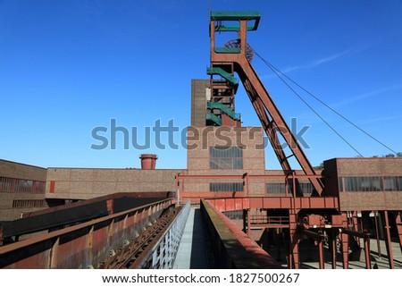 Essen, Germany. Industrial heritage of Ruhr region. Zollverein, a UNESCO World Heritage Site. Royalty-Free Stock Photo #1827500267