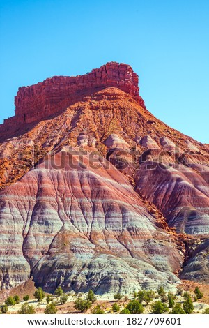 USA. Arizona, Utah. Grandiose mountains of red sandstone. Paria Canyon-Vermilion Cliffs Wilderness Area. The concept of active, extreme and photo tourism #1827709601