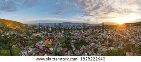 Sunrise over the City of Escazu and San Jose, Costa Rica