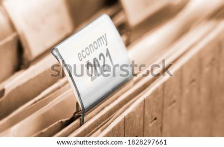 economy 2020 / 2021 a symbol foto