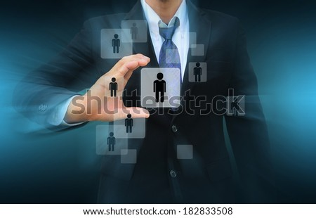 Businessman Choosing the right person #182833508
