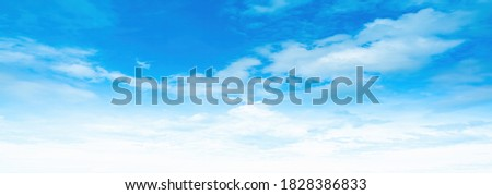 blue sky with cloud panorama style blackground  Royalty-Free Stock Photo #1828386833