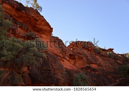 Finke River Cliff Northern Territory Central Australia Royalty-Free Stock Photo #1828565654