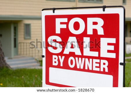 blank sign for sale by owner #1828670