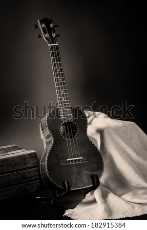 Still life, classic ukulele on stand #182915384