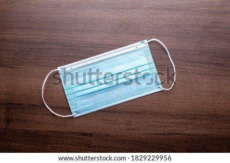 Facemask best prevention against coronavirus is a surgical mask stock photo