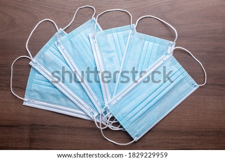 Facemask - best prevention against corona virus is a surgical mask stock photo