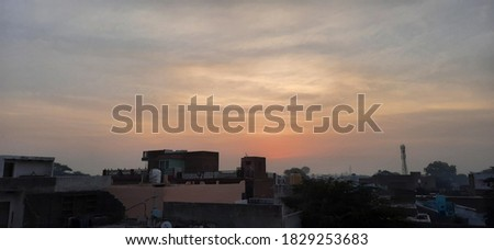 Good morning sky beautiful image. Selected background on focus and blur.