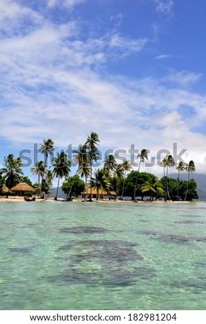 Panorama of tropical beach,Raiatea, French Polynesia, Society Islands  #182981204