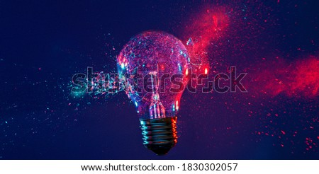 A picture of the beautiful view of incandescent light bulb