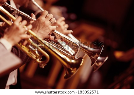 Pipes in the hands of musicians Royalty-Free Stock Photo #183052571