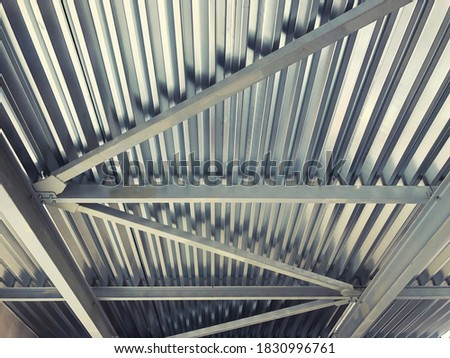 Profiled stainless steel sheets and beams and girders. Metal ceiling structures #1830996761