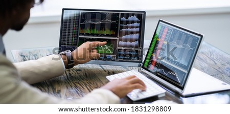 African American Trading Stock Market Exchange Online Royalty-Free Stock Photo #1831298809