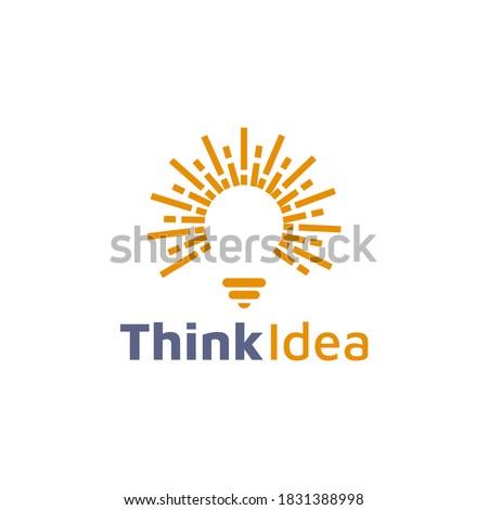 Lightbulb logo template. Lightbulb icon. Abstract lightbulb logo. Business logo template. Vector illustration Royalty-Free Stock Photo #1831388998