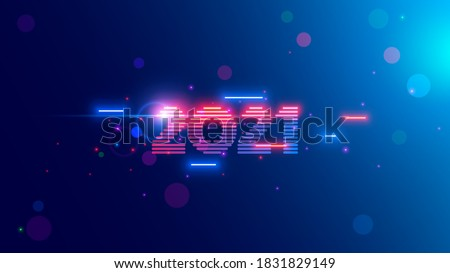2021 year. Neon 2021 year in digital retro cyber 80th technology style. Light and  shine Vector New Year number in tech industry design. Electronic digit 20 21 on celebration banner future. #1831829149