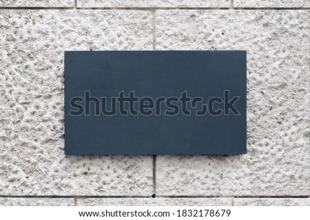 Blank store signage sign design mockup. Clear shop template. Street hanging mounted on the wall. Signboard for logo presentation. Cafe restaurant bar plastic empty board