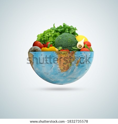 world vegetable day, vegetable on the world, fresh vegetable, vegan day, world food day Royalty-Free Stock Photo #1832735578