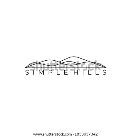 simple hills and valley logo vector Royalty-Free Stock Photo #1833037342