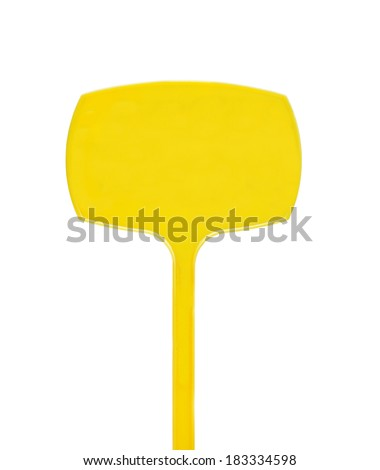 Empty yellow poster for text isolated on a white background