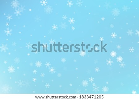 Winter snow background. Falling snowflake vector