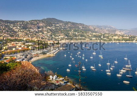 View of Villefranche-sur-mer, French riviera Royalty-Free Stock Photo #1833507550
