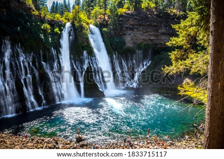 Majestic Burney Falls in Shasta-Trinity National Forest, California Royalty-Free Stock Photo #1833715117