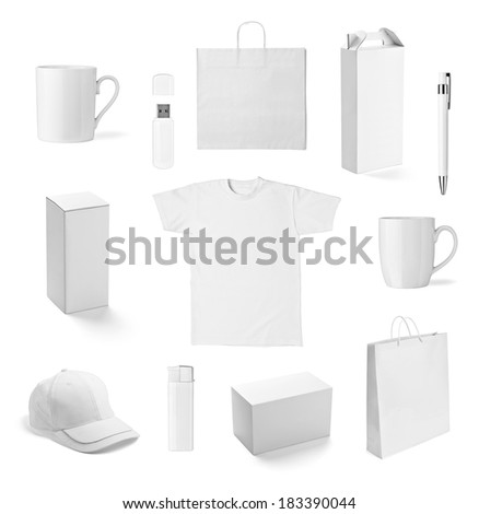 collection of  various white print templates on white background. each one is shot separately #183390044