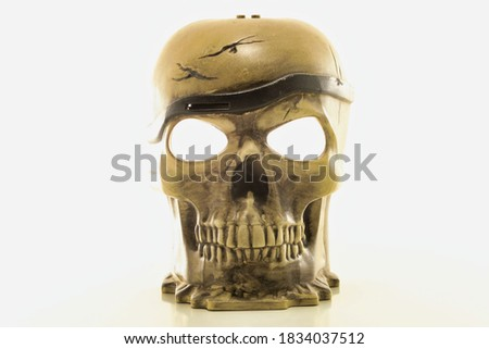 photo picture of a human bone skull isolated