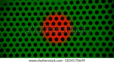Bangladeshi flags texture painted on a metallic surface unique photo