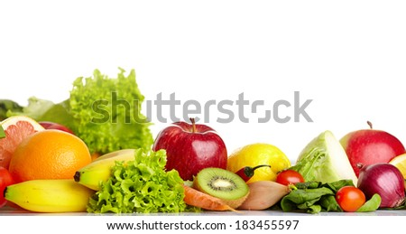 Fruit and vegetable borders  #183455597