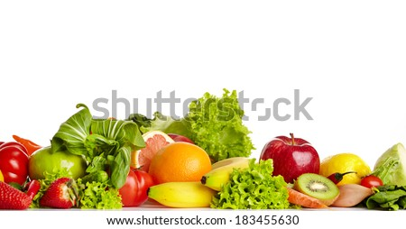 Fruit and vegetable borders  #183455630