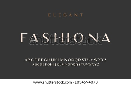 Elegant alphabet letters sans font. classic typography fonts regular uppercase, lowercase. Vector Royalty-Free Stock Photo #1834594873
