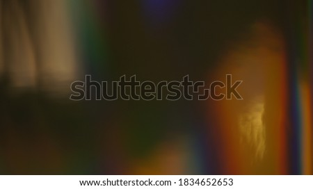 Holographic Abstract Multicolored Backgound Photo Overlay, Using Screen Mode, Rainbow Light Leaks Prism Colors, Trend Design Creative Defocused Effect, Blurred Glow Vintage Flares