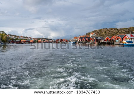 A beautiful fishing village on the Swedish Atlantic coast. Picture from Hamburgsund, Vastra Gotaland, Sweden